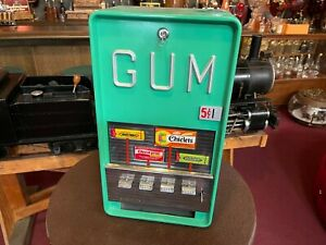 """1950's 5 Cent Superior Manufacturing Packaged Gum Vendor """"Watch Video"""""""