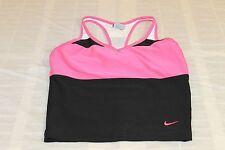 Nike Dri Fit Black and Pink Tank Sports Bra