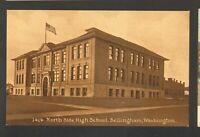 Unused Postcard North Side High School Bellingham Washington WA
