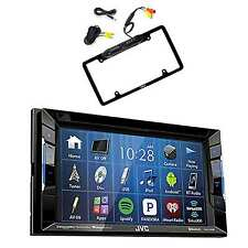 DVD/CD/AM/FM Car Stereo Receiver W/ License Plate Frame Rear View Backup Camera