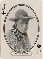 William S Hart 1916 MJ Moriarty Silent Film Star Playing Card of Western Star