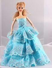 Wholesale Handmade Green The original soft clothes dress for barbies doll 1103