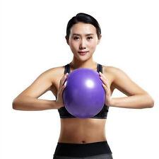 25cm Purple Pilates Yoga Ball Exercise Gymnastic Fitness Balance Stability Cool