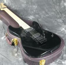 Black Charvels  Electric Guitar White Color Floyd Rose Bridge Black Hardware