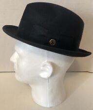 Vintage Dammast 6 7/8 Fedora Felt Hat Charcoal Gray The Deluxe Head-Eez Leather
