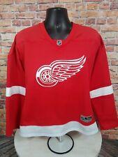 Detroit Redwings NHL Hockey Jersey Womens Size XL Reebok Blank Red White Sewn