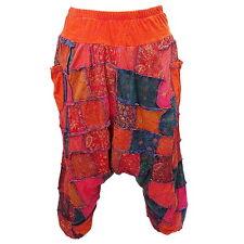 Baggy Gypsy Harem Patchwork Drop Crotch Capris Stretch Cotton Pants - EK895