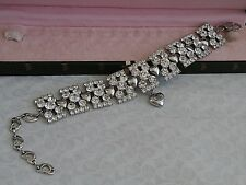 RARE JEWELED JUICY COUTURE CLEAR STONES BRACELET DOG PET COLLAR  DOGGY COUTURE