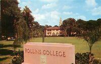 Chrome FL Postcard O441 Rollins College Winter Park Street View Liberal Arts
