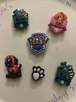 Paw Patrol Lot Of 6 Crocs Shoe,Bracelet,Lace Adapter Charms,Jibbitz
