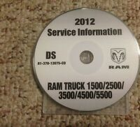 2012 Dodge Ram 2500 Pickup Truck Shop Service Repair Manual CD ST SLT Laramie