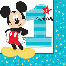 MICKEY MOUSE Fun to Be One LUNCH NAPKINS (16) ~ Birthday Party Supplies Dinner