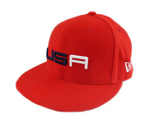 """NEW 2018 New Era 59Fifty USA Ryder Cup Sunday Round Fitted Flatbill 7 1/4"""" Hat"""
