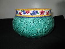 """Vintage Fitz & Floyd Flower Pot/Planter 4.5"""" x 7"""" Vibrant Colors, Good Condition"""