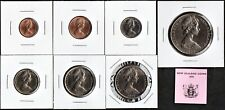 New listing New Zealand 1975 Seven Pc. Uncirculated Set In 2X2S+