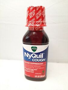Vicks Nyquil Cough Liquid Soothing Cherry  8 fl Oz. Expires 10/2021+ Free Ship