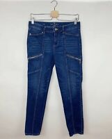 White House Black Market Women's Mid-Rise Skinny Ankle Utility Jeans Size 4