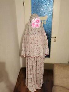 2-tlg Islamische Gebetskleidung Khimar Frauen Prayer Clothes Set ملابس صلاۃ