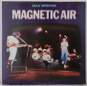 Max Webster - Live Magnetic Air  RARE 1979 LP.