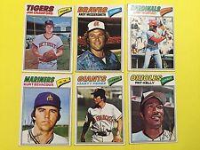 1977 Topps Baseball, lot of 6 #69, 80(A Messersmith),136, 317, 438, 469