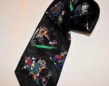 Looney Tunes Football Men's Tie Taz Tazmanian Devil Bugs Bunny Warner Brothers