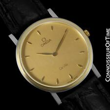 OMEGA De Ville Mens Midsize 18K Gold & Stainless Steel Watch - Mint w/ Warranty