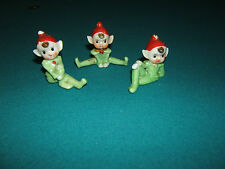 ANTIQUE POST WWII PIXIE PORCELAIN ELF FIGURINES~ 50'sVERY NOSTALGIC COLLECTABLE~