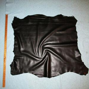 Thin 2 oz Soft Black Fine Grained Sheepskin Leather Hide Bookbinding Insert