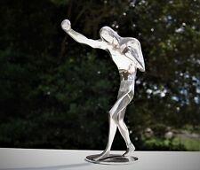 Antique Vintage Authentic Hagenauer Werkstatte Bronze/Chrome Male Boxer Statue