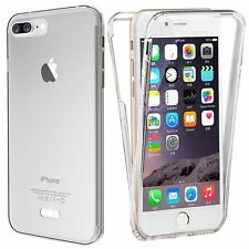 New Apple iPhone and Samsung 360 TPU Gel Jelly Skin Case / Cover Crystal Clear