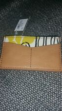 FOSSIL Card Holder tan brown leather Designer Wallet BNWT