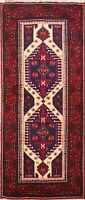 Tribal Balouch Afghan Oriental Hand-Knotted Wool Area Rug Traditional Carpet 3x6
