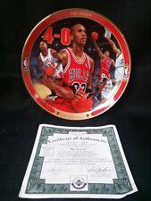 "1996 Bradford Exchange • Michael Jordan • ""The Sweep"" • 8"" Collector Plate"