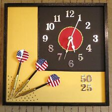 Modern Wall Clock, Unique Wall Art Decor, Mens Dart Set Gift, Nchanted Gifts