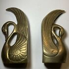 Pair+Solid+Brass+Swan+Bookends+VINTAGE+Mid+Century+Modern++6%22+tall