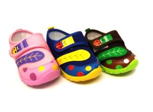 New Baby Boys Canvas Fancy Slippers Casual Trainers Sandals Toddler Shoes Size