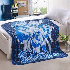 Sailor Moon Blue Soft Coral Fleece Blankets Anime Air Condition Blanket Cover