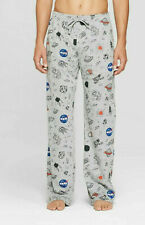 NASA Mens Gray Nasa Novelty Icons Pajama Lounge Pants New S, M, L, XL