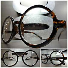 VINTAGE RETRO WALDO PROFESSOR Style Clear Lens EYE GLASSES Round Tortoise Frame