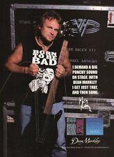 1999 VINTAGE Print Ad Dean Markley Guitar Strings Michael Anthony of Van Halen