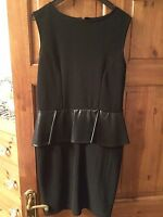MISS SELFRIDGE LADIES BLACK DRESS SIZE 14