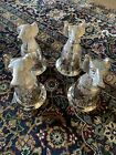 Hunting Dogs (4) Silver Plated Stirrup Goblet Cups Vintage Set Of 4