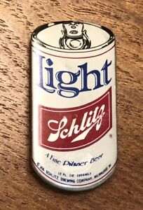 Vintage Schlitz Light Beer Can Brewery Lapel Hat Pin Pinback ~ Pilsner~Milwaukee