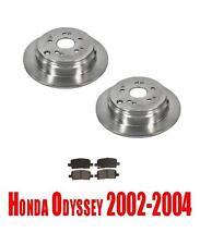 313mm Rear Disc Brake Rotors & Ceramic Brake Pads for Honda Odyssey 2002-2004