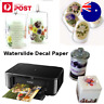 A4 Waterslide Water slide Transfer Decal Paper Inkjet Laser Printer Soap Glass