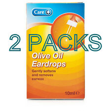 2 PACKS OF Care Olive Oil Ear Drops 10ml FOR THE LOOSENING & REMOVAL OF EAR WAX