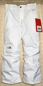 THE NORTH FACE Kids Girls Derby Waterproof Insulated Ski Pants TNF White M/10-12