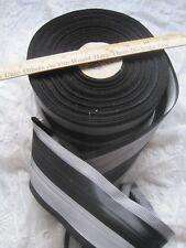 Vintage Ribbon Trim Usa, Black & Grey Gross Wide Grain Men'S Hat 1 Yard