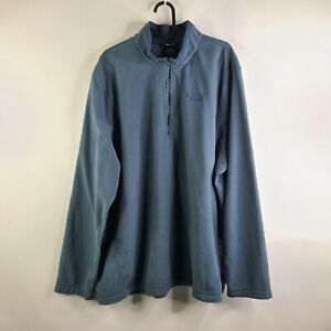 The North Face Dull Teal 1/4 Zip Pullover Fleece Jacket Size XXL