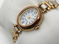 Timex Essential Ladies Watch Gold Silver Tone Analog Wrist Watch